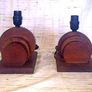 Wooden Circular Lamps