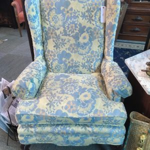 Pastel Fabric Wing Arm Chair