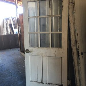 9-Lite/2-Panel Vertical Exterior Door-Damaged