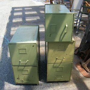 Vintage Stackable File Cabinets