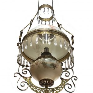 Early Victorian Hanging Oil Lamp