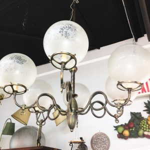 6-Loop Arm Gasolier Chandelier