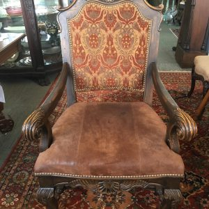 Antique Style Kings Throne Chair