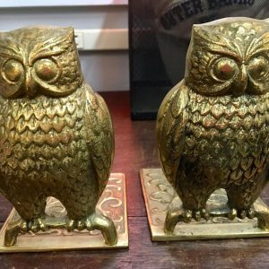 Antique Brass Owl Bookends