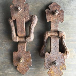 Early Gothic Iron Trunk Handles