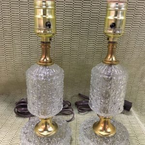 Pressed Glass Boudoir Lamps