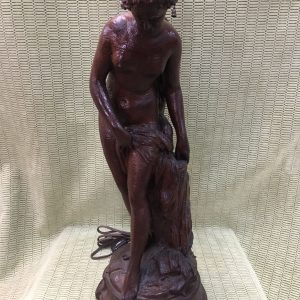 Wooden Figural/Muse/Goddess Table Lamp