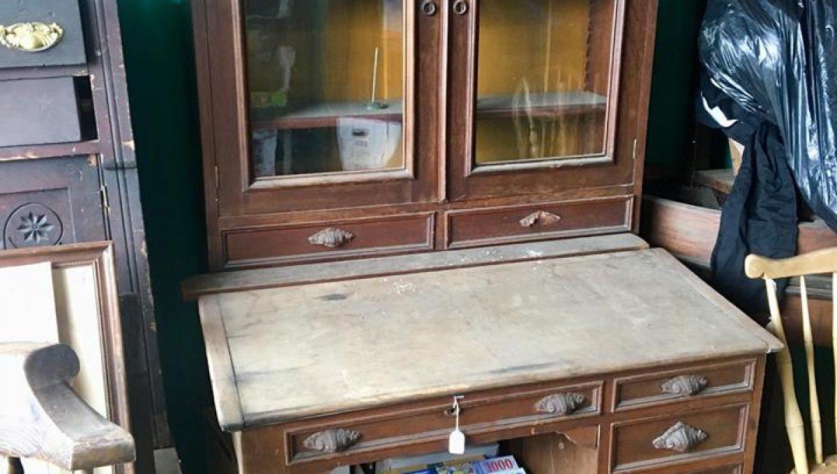 Antique Walnut Plantation Desk