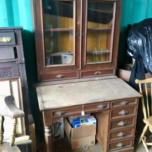 Antique Walnut Plantation Desk