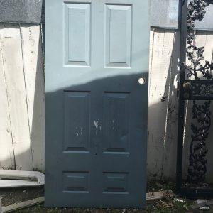 6-Panel Metal Exterior Door