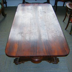 Rosewood Ball-Foot Coffee Table