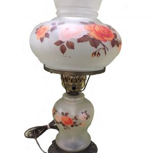 Frosted Glass Converted Oil Lamp