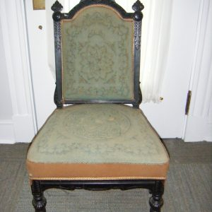 Antique Victorian Carved Upholstered Side Chair